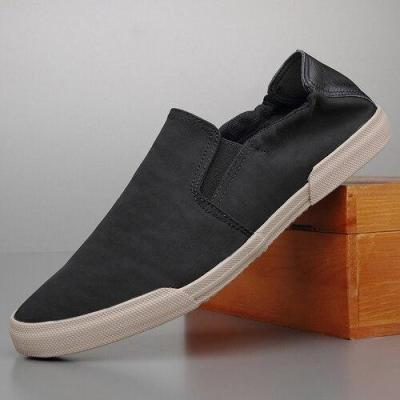 Breathable Canvas Men's Casual Loafer Shoes Spring/Autumn Lazy Cloth Driving Vulcanized Shoes Sewing Sneaker Shoes