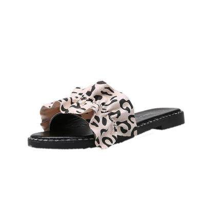 Slippers for Women Fashion Retro Summer Street Women's Sandals with Lace Beach Sandals