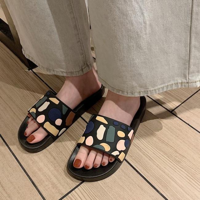 Women Summer Slippers Home Slides Beach Flip Flops Shoes Sandals