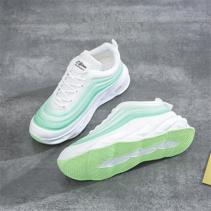 Casual Sneakers Breathable Comfortable Sneakers Women's Fashion Outdoor Running Shoes Thick Bottom Shoes