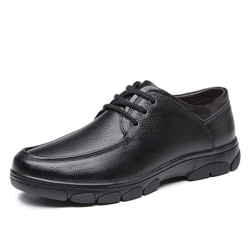 Man Leather Shoes Spring Male Dress Formal Shoe Genuine Leather Clax Men's Derby Footwear