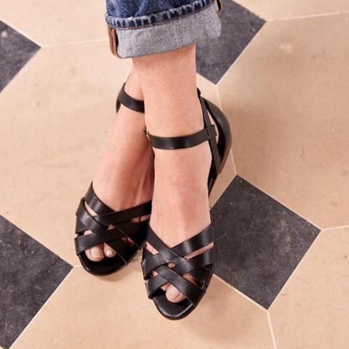 Women's Ladies Cross Strap Ankle Buckle Sandals Roman Shoes women sandals fashion peep toe