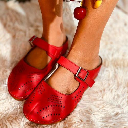 Spring Women's Sandals Handmade Ladies Shoes Leather Sandals Flats Retro Style Women Shoes