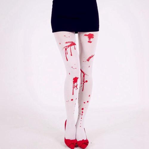 Cosmask Halloween Blood Thighs Up Over Knee Sock Party Masquerade Cosplay Requirements Bloody Performance Costume Tights