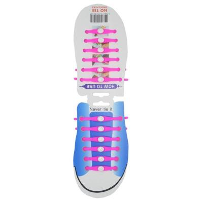 Lazy No Tie Elastic Silicone Shoe Laces Athletic Running Sport Shoelaces Children and Adult Shoe Strings for Sneakers