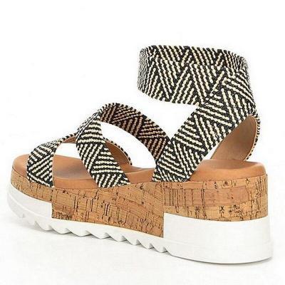 Party Shoes Women Platform Sandals Women Peep Toe High Wedges Heel Ankle Female Sandals Shoes