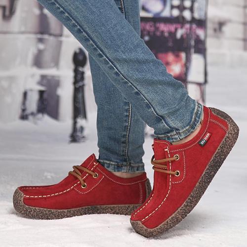 Women's Fashion Antiskid Lacing Flat Shoes