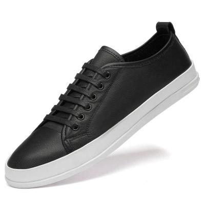 Men's Leather Shoes Casual Sneakers Shoe Red White Black Walking Footwear Fashion Leisure Soft