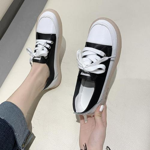 Lace Up Fashion Round Head Casual New Shoes Flat Shoes for Women