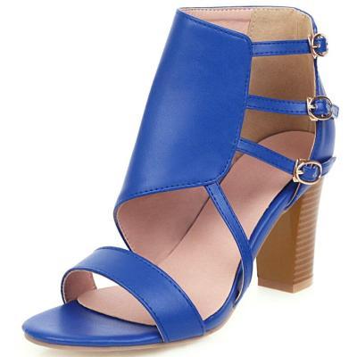 Casual Leisure Party Dress Shoes Woman Buckle Zipper High Heel Sandals Women Summer Sandals
