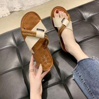 Slippers Women's Summer  Shoes Flat Soft Bottom Outside Covered Slippers Versatile Sandals