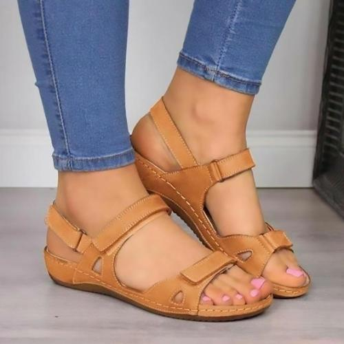 Women's Sandals Summer Shoes Woman Outdoor Cross Sandals Soft Bottom Comfortable Platform Wedge Slides Beach Shoes