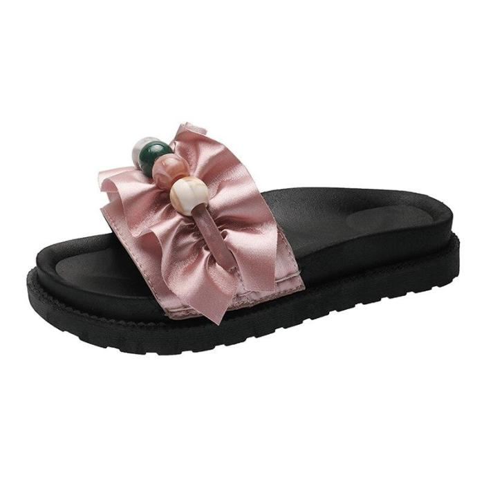 Outdoor Slippers Women Fashion Ladies Comfortable Flat Casual Soft Sole Slides Female