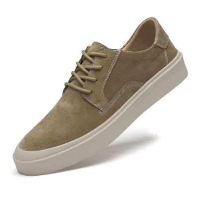 Summer Autumn Man Casual Shoe Suede Leather Fashion Walking Khaki Male Sneakers Breathable New