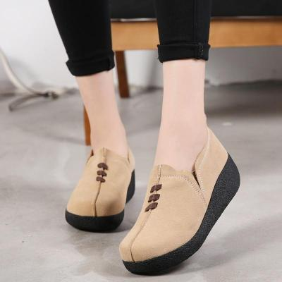 Women Shoes Loafers Flats Casual Leather Slip On Woman Ladies Low Heel Moccasins Footwear