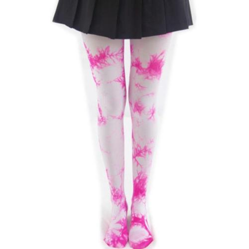 Japanese Cosplay Lolita Panty Hose Tight Socks Print Cos Anime Asymmetry Pantynose Halloween Cosplay Pantihose Plus Long