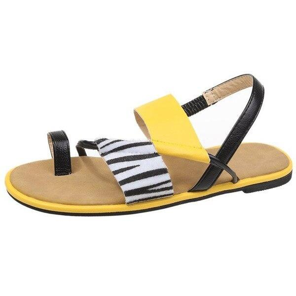 2020 Summer New Woman's Outdoor Flat Sandals Open Toe Fashionable Comfortable Beach Shoes Leisure Plus Size 43