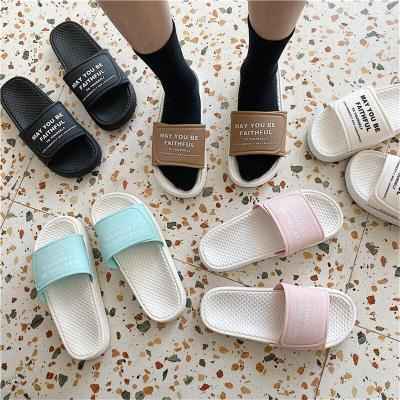 Women Indoor Slippers Print Girls Beach Comfortable Flat Shoes Ladies Home Slides