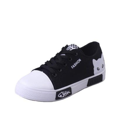 Breathable Flat Casual White Shoes Cat Woman 2020 Women Vulcanized Sneakers Spring and Autumn Canvas Shoes