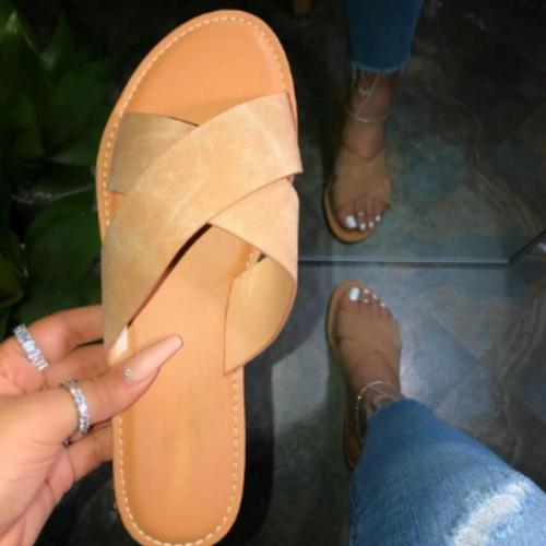 Women Slippers Flat Shoes Gold Fashion Outside Beach Women Shoes Flip Flops Women Sandal