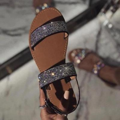 Women Rinestone Slip-on Sandal