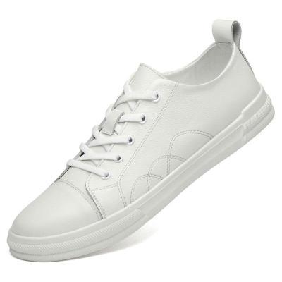 Man Shoes Genuine Leather Spring Autumn Men's Leisure Shoe White Flats Walking Footwear New Arrivals
