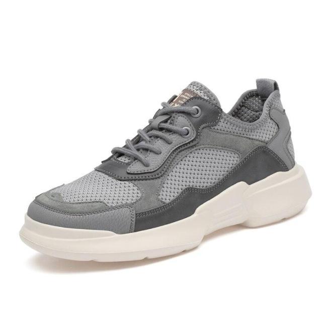 Man Sneakers Casual Shoes Summer Mesh Footwear Men's Shoe Breathable Fashion Sneaker Soft Khaki New