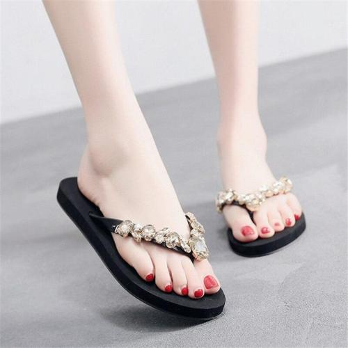 Women's Casual Flat Beach Shoes Fashion Flip Flops Summer Flat Slippers