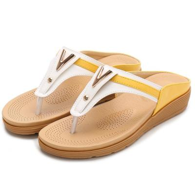 Shoes ladies Bohemian slippers flat sandals color matching outside