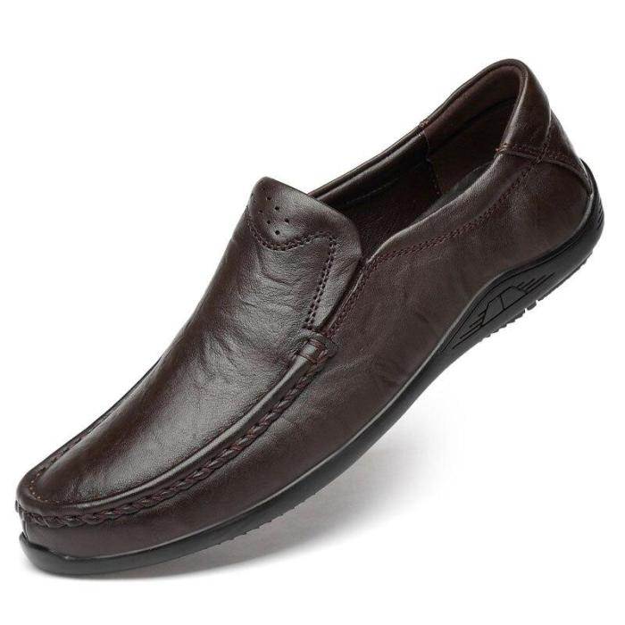 Man Leather Shoes Real Leather Summer Men's Shoe Slip-on Loafers Genuine Leather Male Casual Walking Footwear