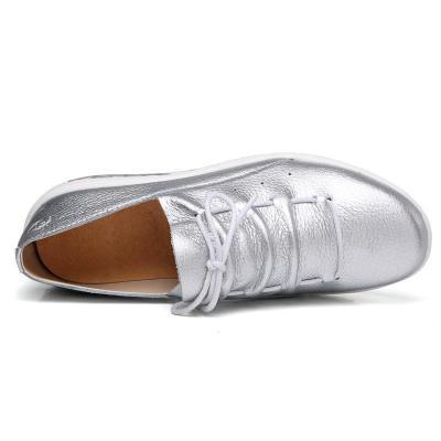 Women Rocker Sole Lace Up Leather Shoes