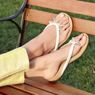 Women Casual Bowknot Thong Slip On Comfy Sandals
