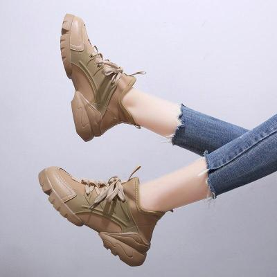 New Women Casual Shoes Fashion Thick Heel Trendy  Platform Sneakers Brand Female Trainers Thick Bottom