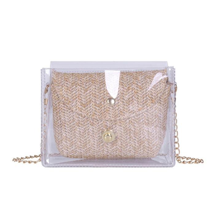 Transparent Women Bags Fashion Ladies Chain Shoulder Crossbody Bags