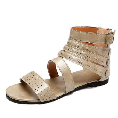 Women Flat Bottom Thin Belt Student Fashion Sandals New Sandals Women Summer Low Heel Roman Shoes