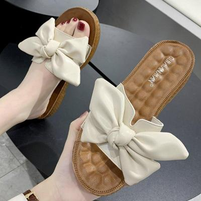 Summer Women Slippers Pu Leather Flat Heel Peep Toe Beach Outdoor Slides Retro Shoes