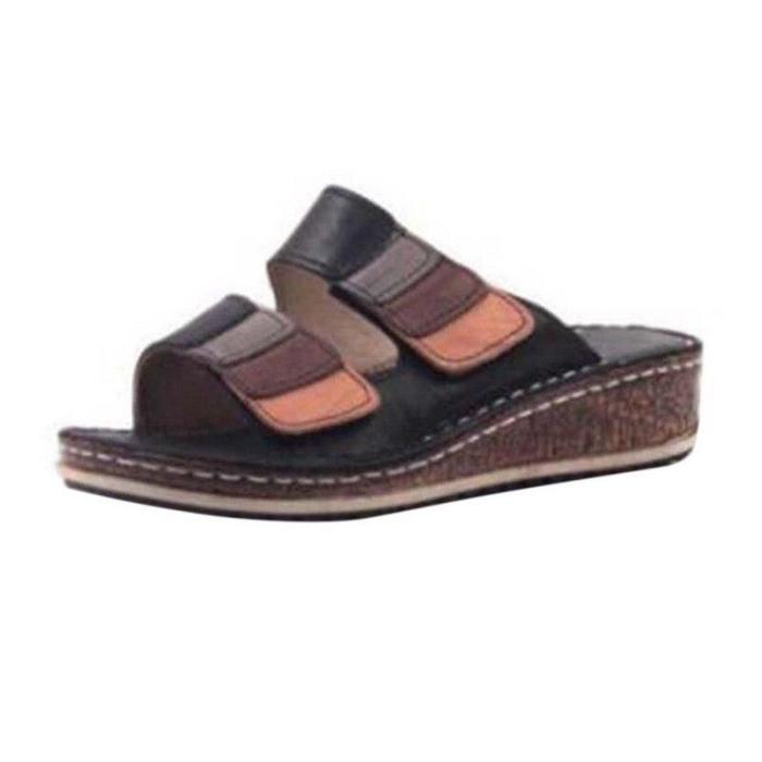 Sandals for Women Shoes Women's Retro Wedge Low Heels Ladies Sandals