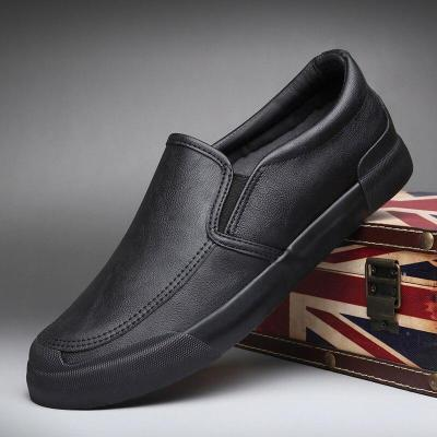 Brand Men's Casual Leather Shoes Summer Men's Leisure Loafer Shoes Colorful Lazy Men's British Style Shoes Plus
