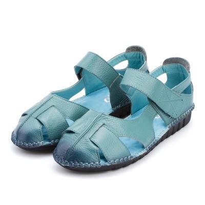 Women Leather Sandals Comfortable Soft Soles Shoes Women Flats Sandals Fashion