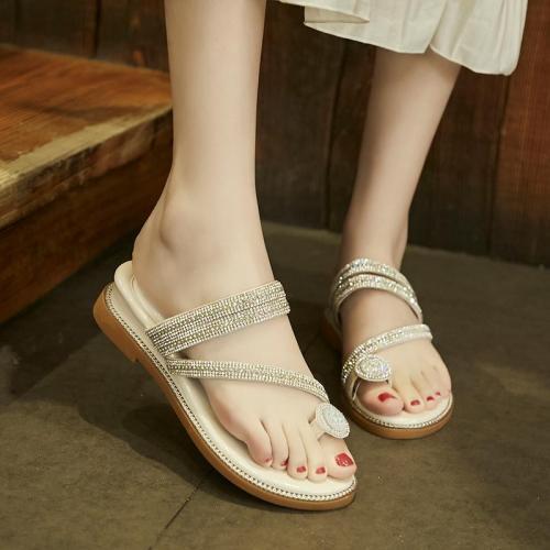 Women Slippers Flat Heel Peep Toe Slides fashion Outdoor&Indoor Luxury Lady Shoes