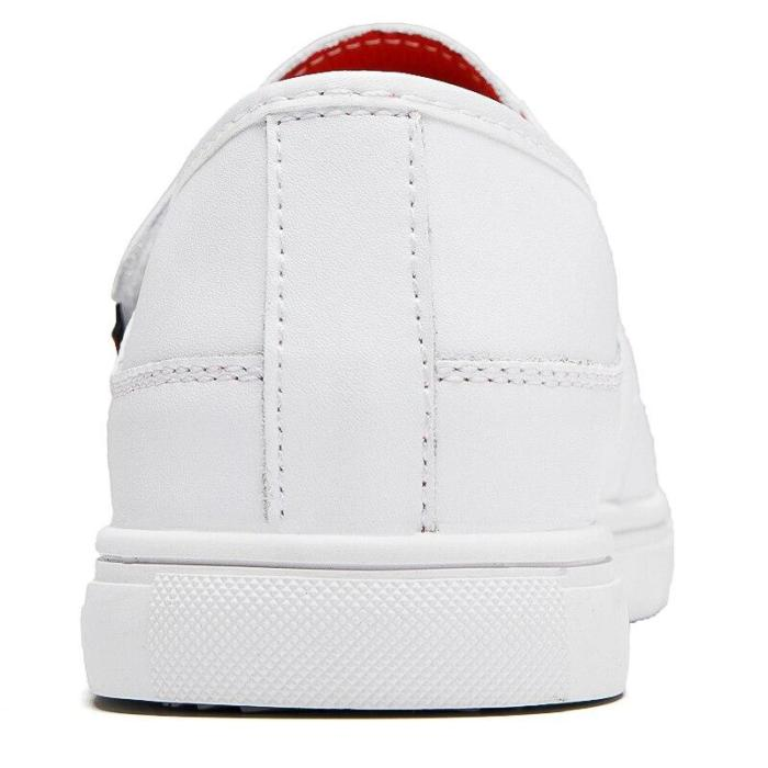 Man Leather Shoes Mens Shoe White Black Fashion Casual Loafers Leisure Footwear