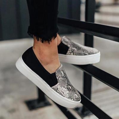 Women Fashion Printed Flat Sneakers