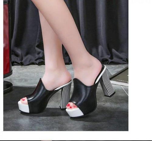 Sandals women new European and American thick heel high heels women's shoes shoes sandals
