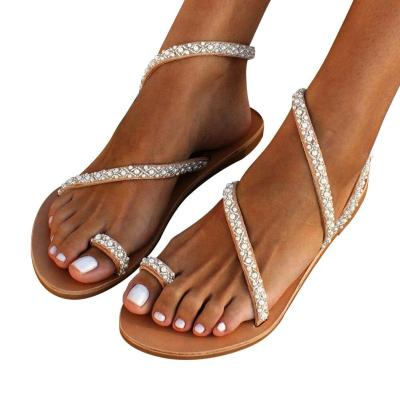 Open Toe Fashion Street Flat Heel Sexy Holiday Daily Casual Women Sandals Summer