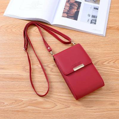 Multi-Function New Female Crossbody Shoulder Bag Pu Leather Mobile Phone Messenger Bag Travel Cool Purses