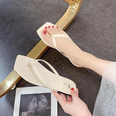 Cool Slippers Women's Summer Square Head Fashion Wear Beach Women's Sandals