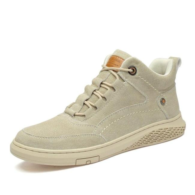 Man Casual Shoes Male Shoe Suede Leather Sneakers Men's Walking Footwear Fashion Brand