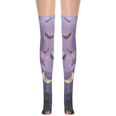Womens Batman Skull Printed Over The Knee Socks Girls Cute Halloween Cosplay  Long Stockings