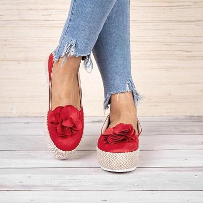 Women Casual Flower Platform Loafers