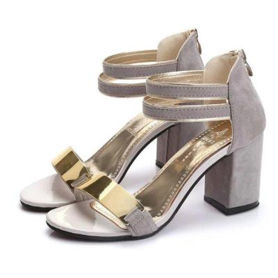 2020 Summer New Sandals Female Shoes Chunky Heel High Heel Sandals for Women